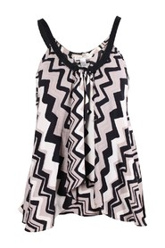 Printed Spaghetti Strap Top -Pre Owned Condition Excellent
