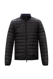 Branded down jacket reversible
