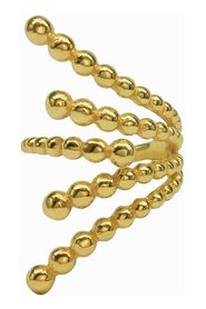 Dotted Gold Snake Ring