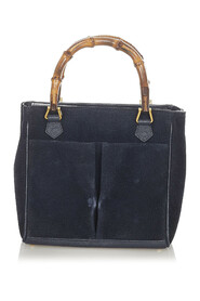 Pre-owned Bamboo Suede Satchel