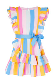 Candy Stripe Dress S Girl Daywear