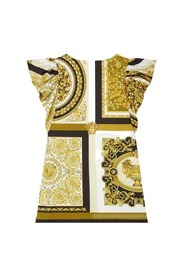 baroque print  poplin dress