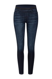 Dark shift jeans med elastisk midja