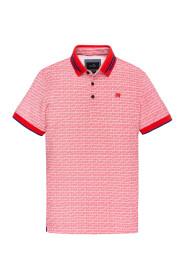 polo korte mouw roze print vpss201806-3090
