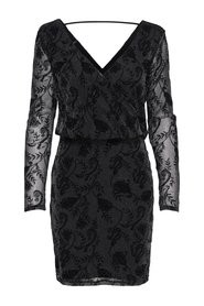 Long Sleeved dress Flock print