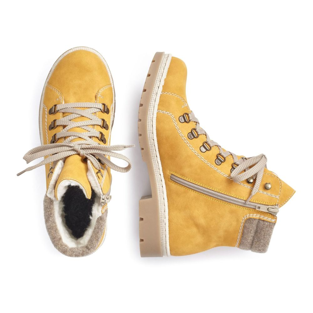 Rieker Yellow Shoelaces Boot Rieker