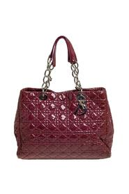 Pre-owned Cannage Patent Leather Soft Lady Dior Shopper Tote
