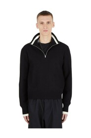 Zip-Up Knit Pullover