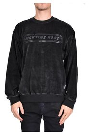 CREW NECK SWEATSHIRT IN VELVET
