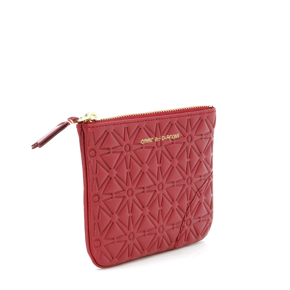Pochette wallet in red printed leather | Comme des Garçons | Portemonnees | Heren accessoires