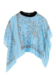Top composed by blouse with mixed all-over print