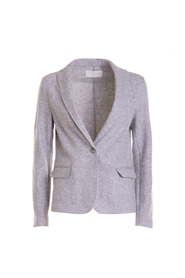 Knitted jacket with pockets
