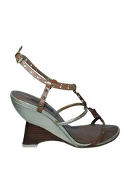 Wedges With Wooden Elements -Pre Owned Condition Gently Loved