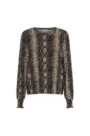 Anne snake jersey blouse - Continue Cph