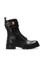 Boots with decorative buckles