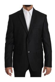 Wool Slim Fit Two Button Jacket Blazer