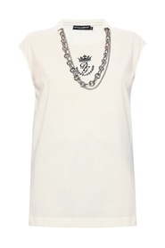 Tank top with necklace