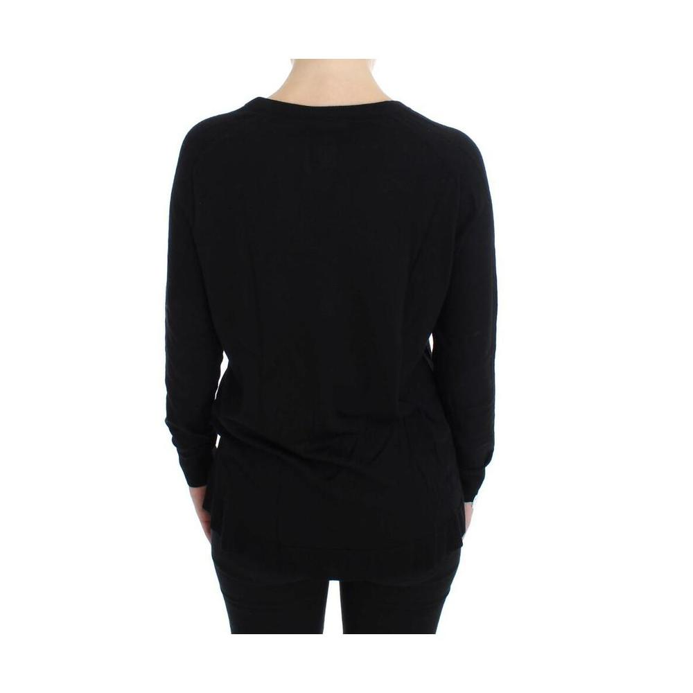 Dolce & Gabbana Black Wool Button Cardigan Sweater Dolce & Gabbana