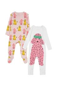Set of Two Romper with Poodle Print