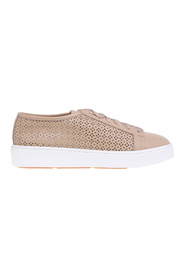 Cleanic sneakers in hammered and laser-cut leather