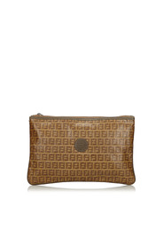 Zucchino Coated Clutch Bag Fabric Coated Italy
