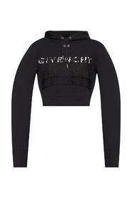 Cropped hoodie with logo