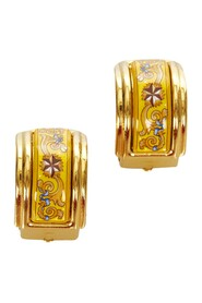 Pre-owned Cloisonne Clip On Earrings