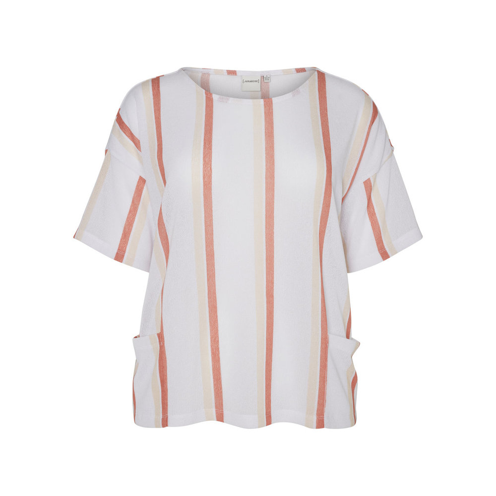 2/4 sleeved blouse Striped