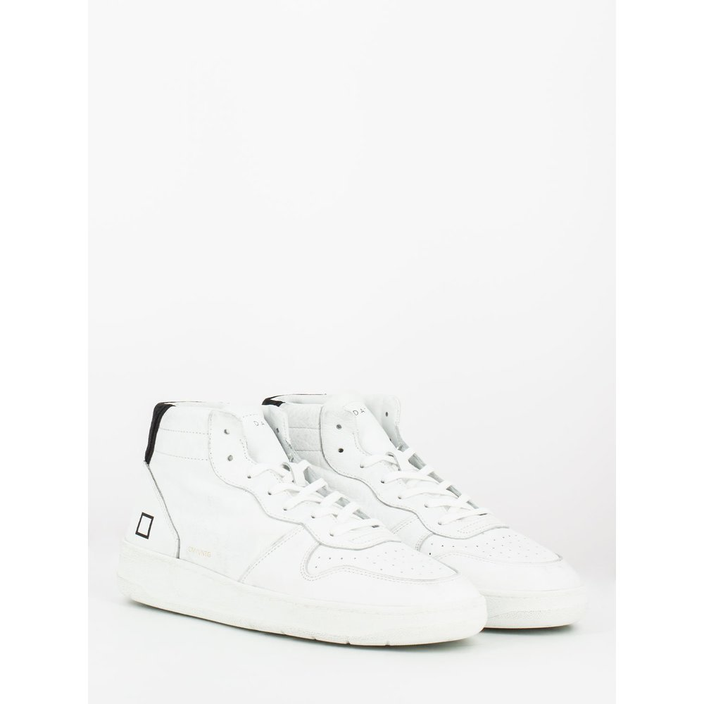 White Court mid vintage calf sneakers   D.A.T.E.   Sneakers   Herenschoenen