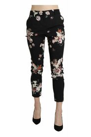 Angel Floral Cropped Trouser Wool Pants