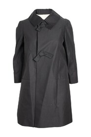 Silk Coat With Bow -Pre Owned Condition Excellent