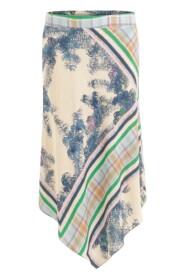 Asymmetric Skirt With Waistband