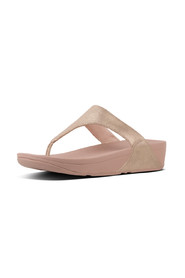 Pink Foil Fitflop Shimmy T-Thong Suede