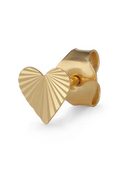 Reflection Heart Stud, gold-plated sterling silver