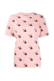 Swallow motif t-shirt