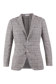 Linen and virgin wool blend jacket