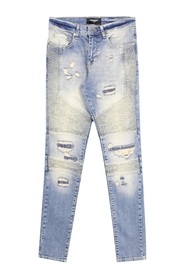 BIKER DENIM SAND BLUE