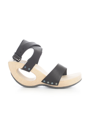 OPEN TOE SANDAL STRAP ON ANKLE AND HOLED HEEL