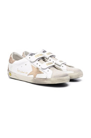 Distressed Superstar trainers