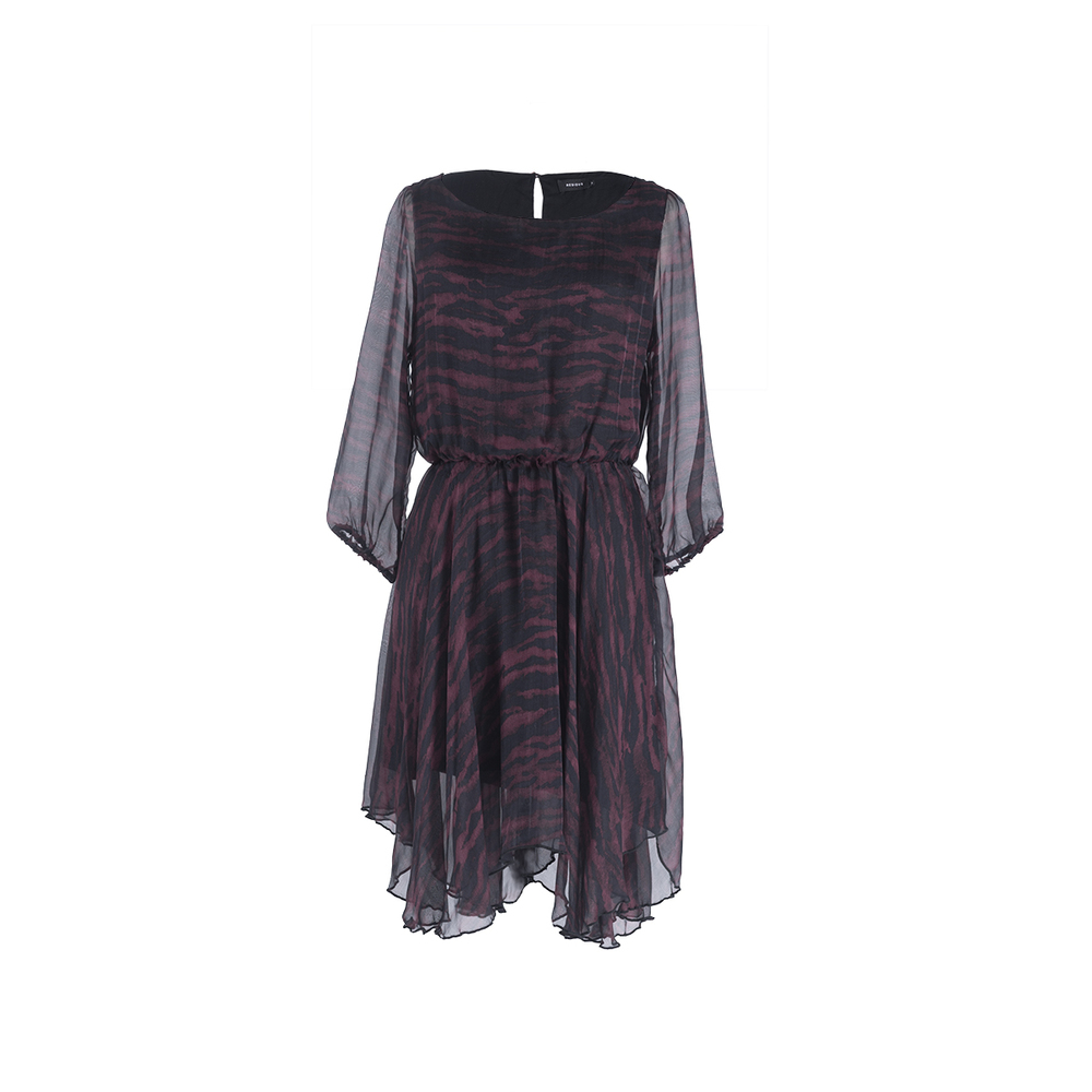 mabel dress dark purple residus