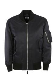 Bomber jacket  Double slider zipper closure logo detail on the back