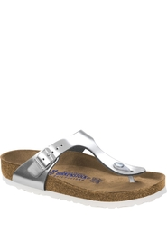 Birkenstock Gizeh Normal SFB Leather Silver