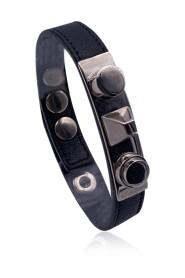 Begagnat läder unikt stud armband