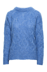 Pleated knit pullover