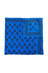 Scarf with blue skull