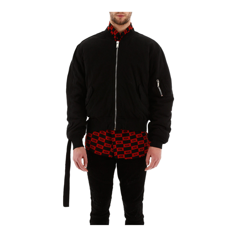 Bomber jacket with cut-out 424