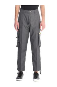 TROUSERS WITH POCKETS + LACES AT THE BOTTOM