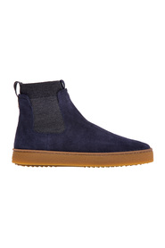 H476 sneaker in blue suede with elasticized sock