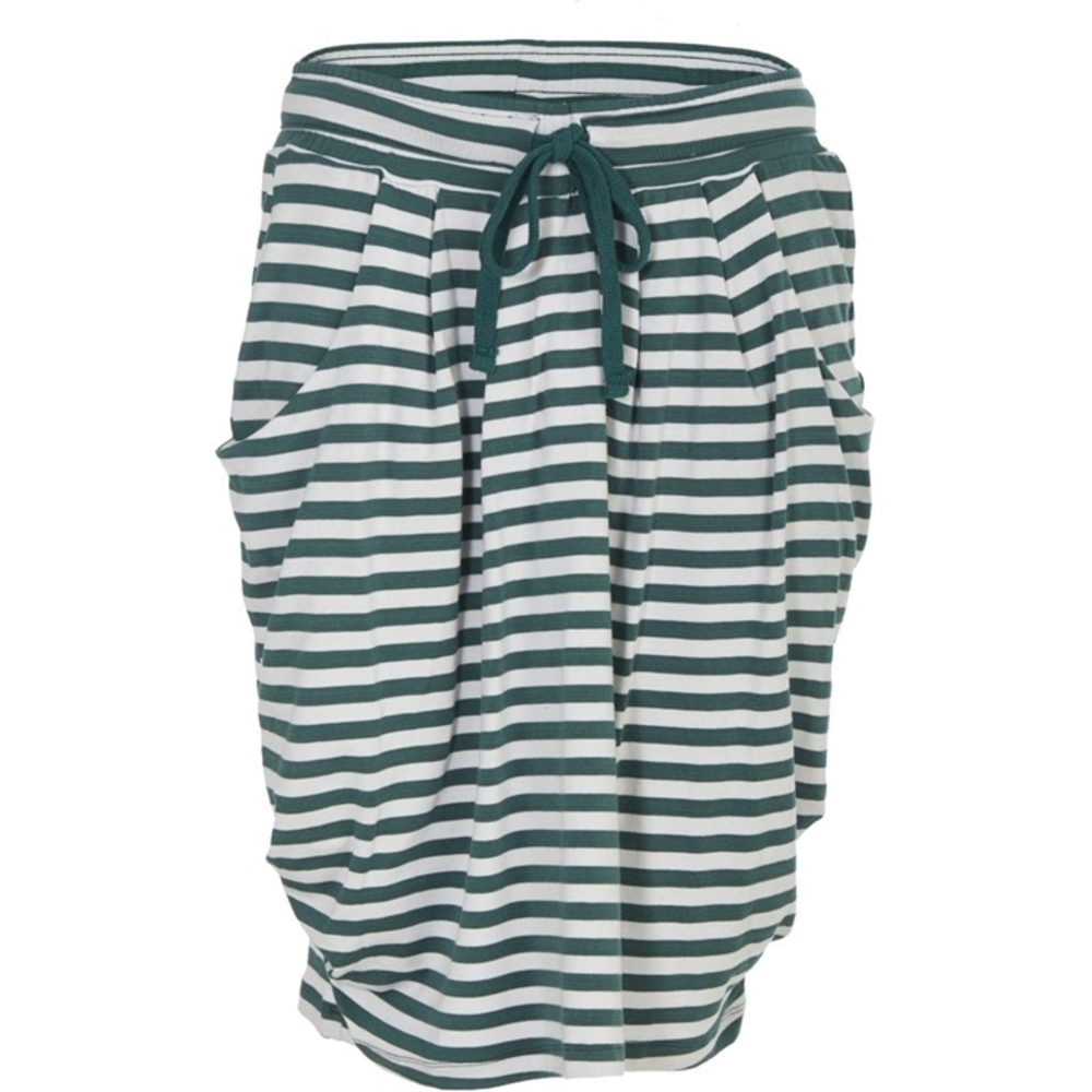 Its My Life Skirt Green Dusty Stripe
