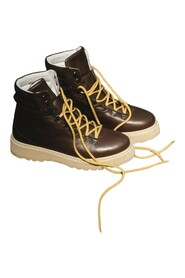 W Hiking Grained Leather Boots